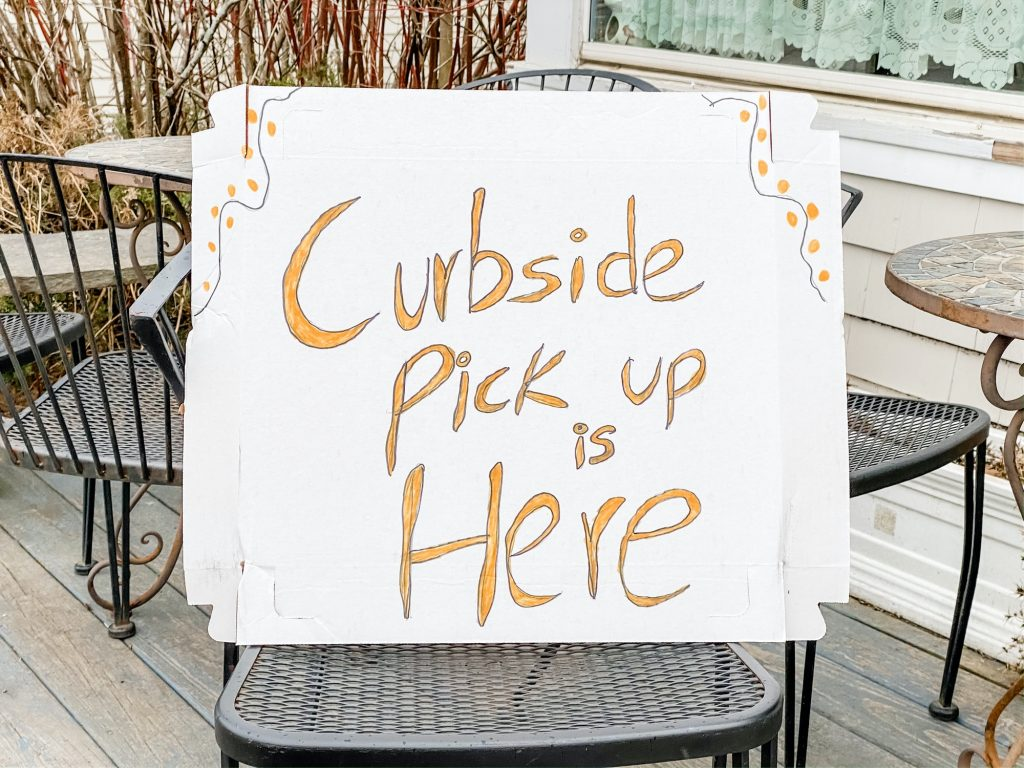 A sign of the times... Restaurants have to pivot as a result of the pandemic.